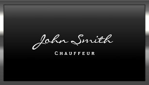 Chauffeur business cards zazzle cool metal border chauffeur business card colourmoves