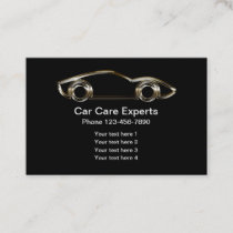 Cool Metal Car Logo Design Business Card