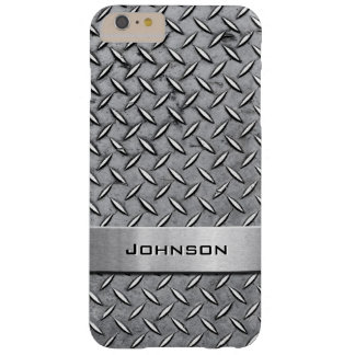 Cool Metal Diamond Cut Metallic Plate Pattern Barely There iPhone 6 Plus Case
