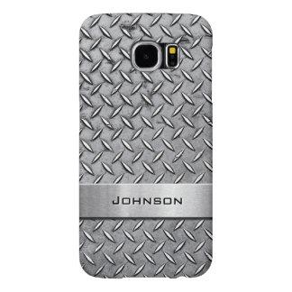 Cool Metal Diamond Cut Metallic Plate Pattern Samsung Galaxy S6 Cases