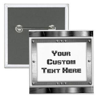 Cool Metal Frame Button Pin