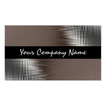 Cool Metal Look On Black Business Cards