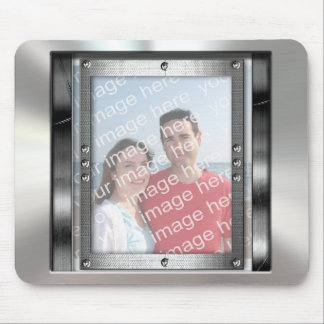 Cool Metal Look Photo Frame Mousepad
