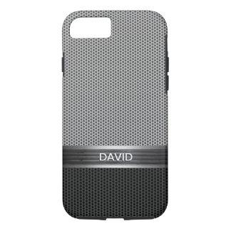 Cool Metal Mesh Pattern Custom Name iPhone 7 Case