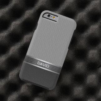 Cool Metal Mesh Pattern Custom Name Tough iPhone 6 Case