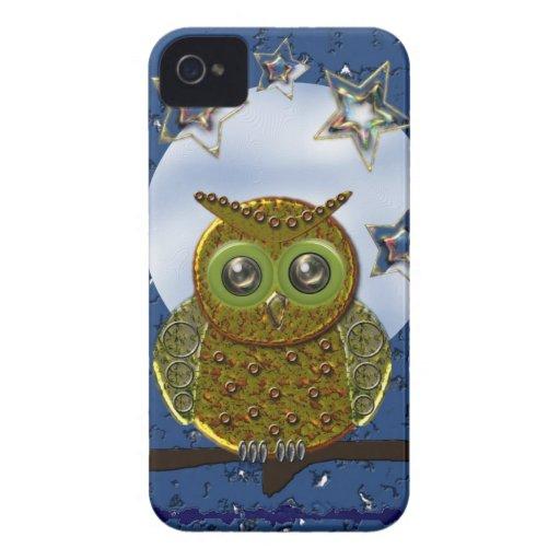 Cool Metal Owl iPhone 4 case