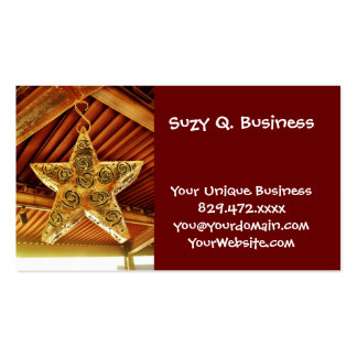 Cool Metal Star Hanging Patio Light Fixture Business Cards