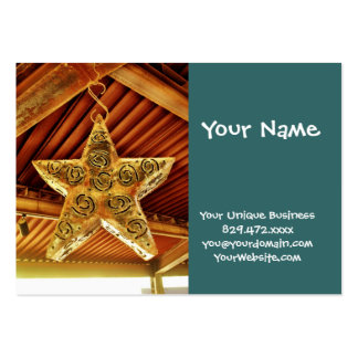 Cool Metal Star Hanging Patio Light Fixture Large Business Card