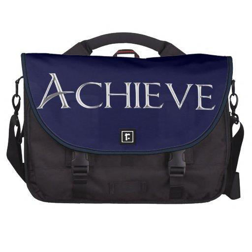 Cool Metallic Achieve Text Professional Laptop Bag