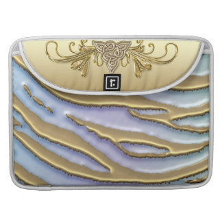 Cool Metallic Gold Glitter Zebra Stripe Sleeve For MacBook Pro