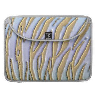 Cool Metallic Gold Glitter Zebra Stripe Sleeves For MacBooks