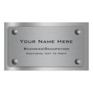 Cool Metallic Look Professional Business Cards