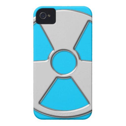 Cool Metallic Radioactive Radiation Symbol iPhone 4 Case
