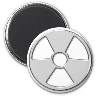Cool Metallic Radioactive Radiation Symbol Magnet