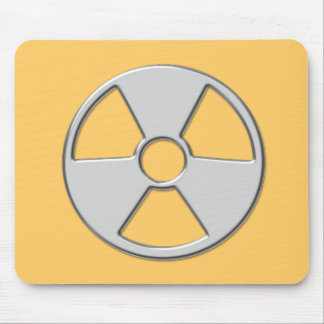 Cool Metallic Radioactive Radiation Symbol Mouse Pad