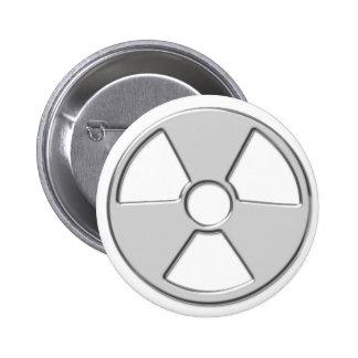 Cool Metallic Radioactive Radiation Symbol Pinback Button