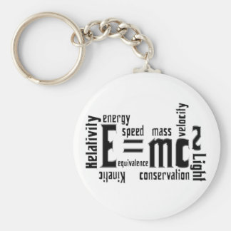 Cool Metallic Science Mass Equivalence Basic Round Button Keychain