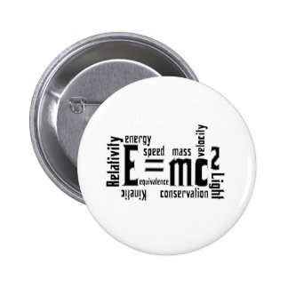 Cool Metallic Science Mass Equivalence Pinback Buttons