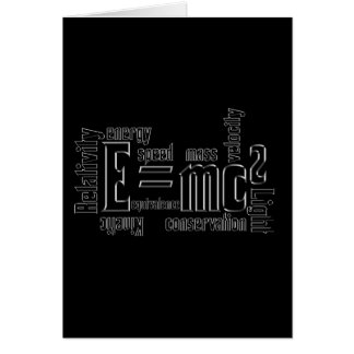Cool Metallic Science Mass Equivalence Card