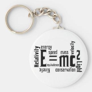 Cool Metallic Science Mass Equivalence Keychain