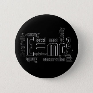 Cool Metallic Science Mass Equivalence Pinback Button