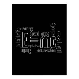 Cool Metallic Science Mass Equivalence Post Cards