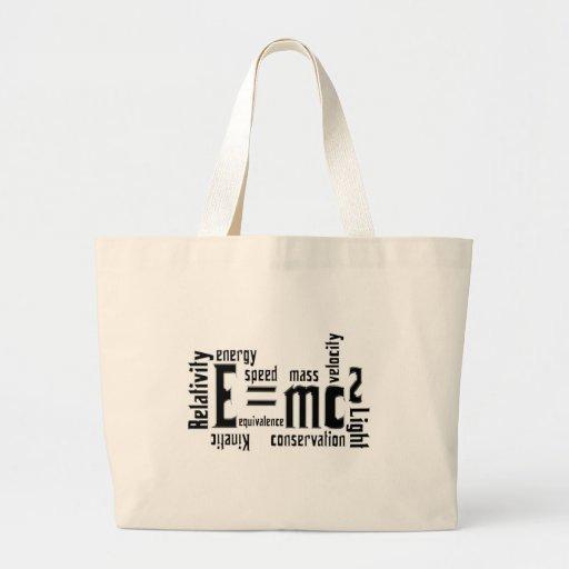 Cool Metallic Science Mass Equivalence Tote Bag