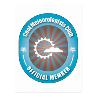 Cool Meteorologists Club Postcard