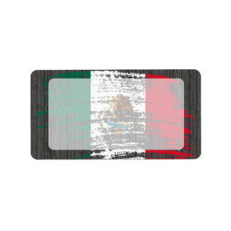 Cool Mexican flag design Label