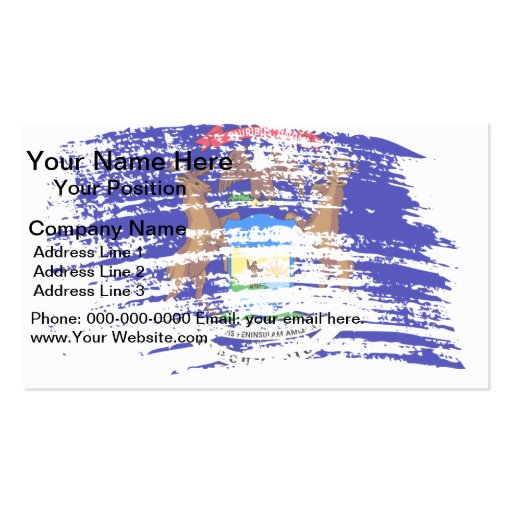 Cool Michigan flag design Double-Sided Standard Business Cards (Pack Of 100)