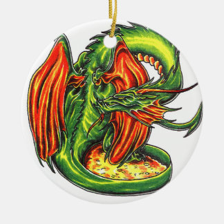 Cool   Middle Age Green Dragon  style ornament