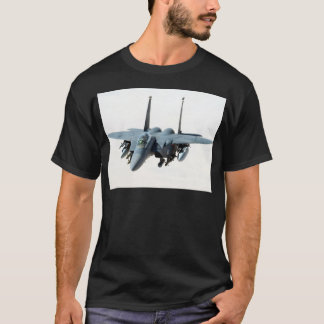cool military aircraft helicopter Black-Hawk  f-15 T-Shirt