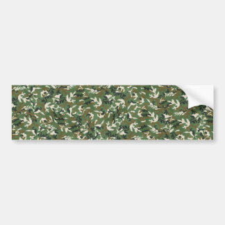 Cool Military Green Camouflage Pattern Bumper Sticker