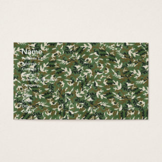 Cool Military Green Camouflage Pattern Business Card