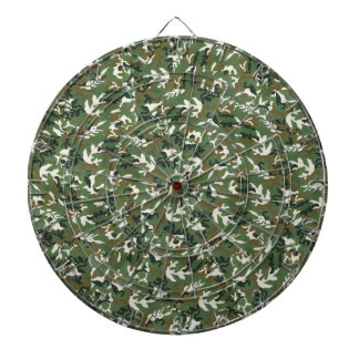 Cool Military Green Camouflage Pattern Dartboard