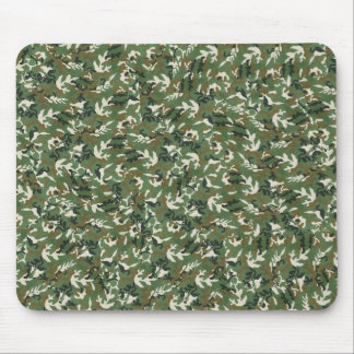Cool Military Green Camouflage Pattern Mousepads