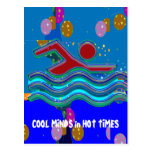 COOL MINDS in Hot Times Postcard