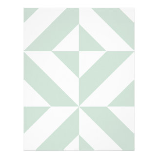 Cool Mint Geometric Deco Cube Scrapbook Paper