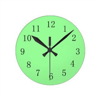Cool Mint Green Color Wall Clock