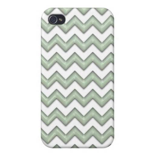 Cool Mint Green Zig Zag Pattern iPhone 4 Case