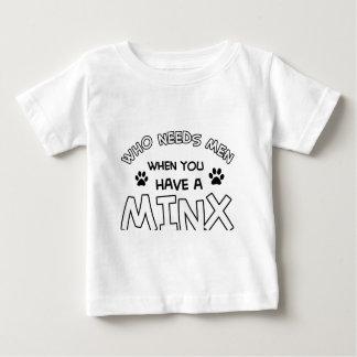 Cool minx cat designs baby T-Shirt
