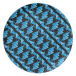 Cool Mirrored Geometric & Abstract Pattern Melamine Plate