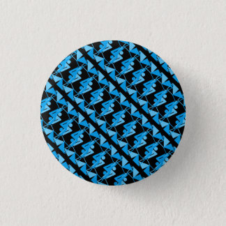 Cool Mirrored Geometric & Abstract Pattern Pinback Button