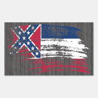 Cool Mississippian flag design Rectangular Sticker