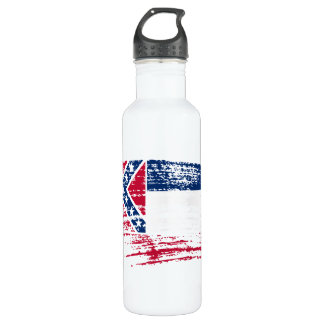 Cool Mississippian flag design Stainless Steel Water Bottle