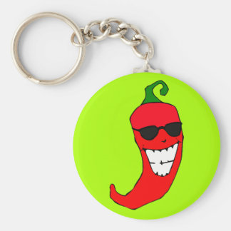 Cool Mister Red Hot Pepper Keychains