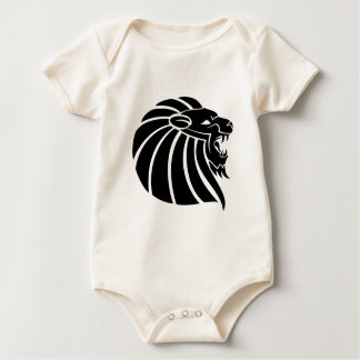 Cool MMA Lion tribal style tatto Baby Bodysuit