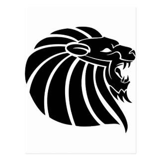 Cool MMA Lion tribal style tatto Postcard