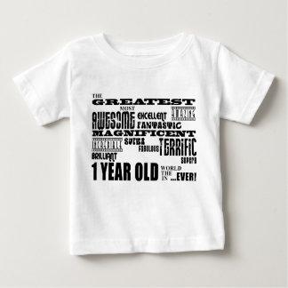 Cool Modern 1st Birthdays : Greatest 1 Year Old Baby T-Shirt