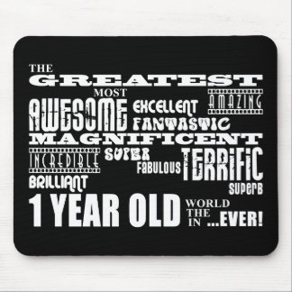 Cool Modern 1st Birthdays : Greatest 1 Year Old Mouse Pad